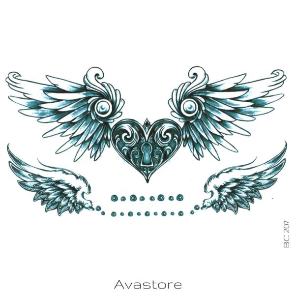 image tatouage cœur cadenas