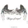 tatouage temporaire wings of angel