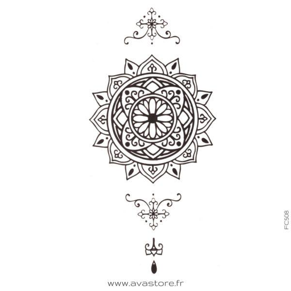 image tatouage main d'orient