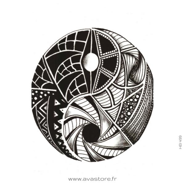photo du tatouage yin yang