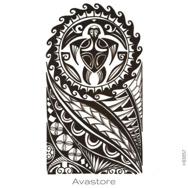 photo du tatouage tortue polynésienne