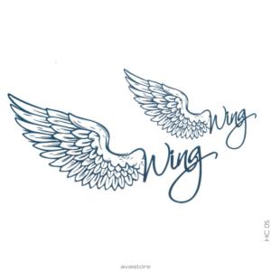 Tatouage temporaire Angel Wing