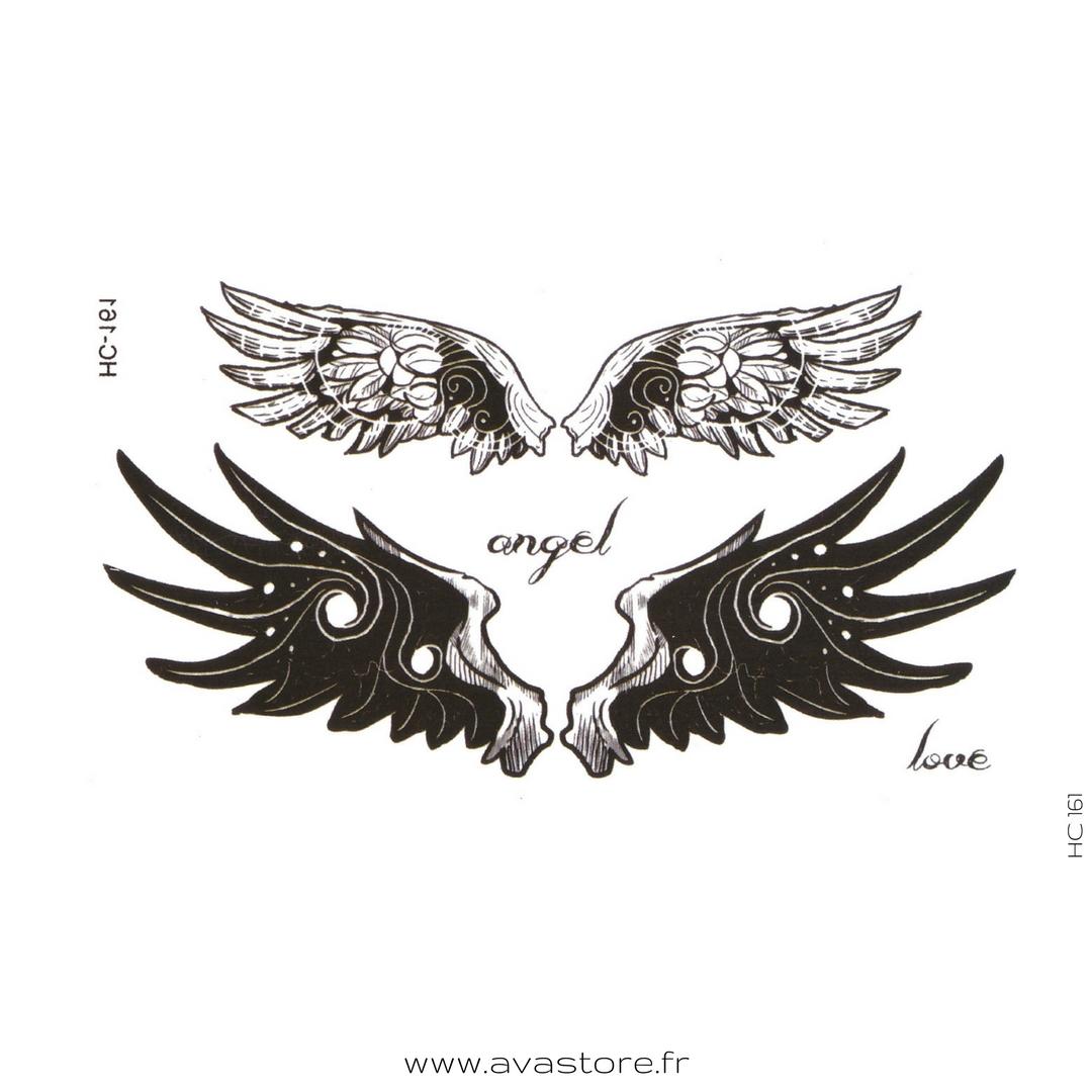 tatouage ailes d'ange - tatouage temporaire
