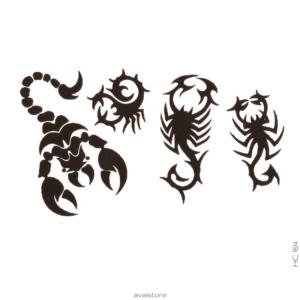 Tatouage temporaire Scorpions