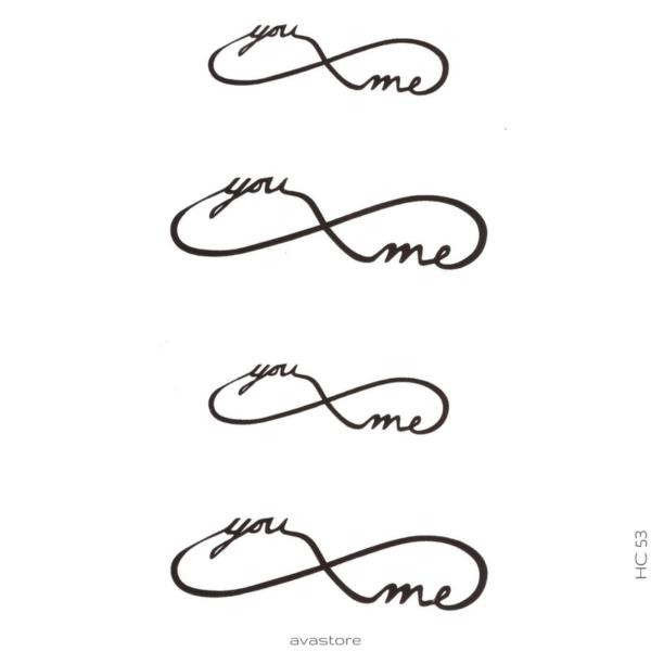 image tatouage you and me