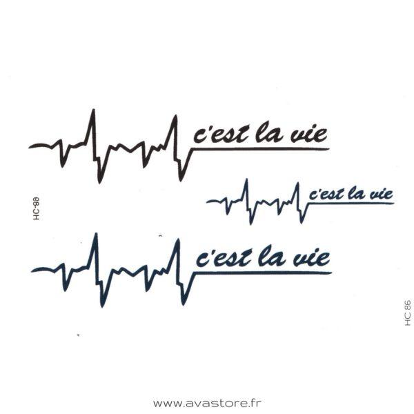 image tatouage battement cardiaque