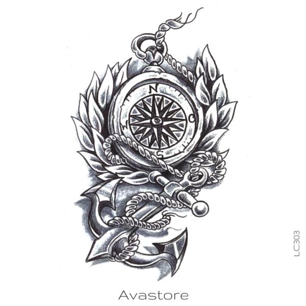 tatouage temporaire marine
