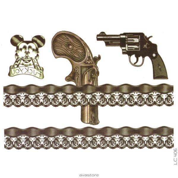 image tatouage jarretière