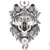 image tatouage loup amérindien