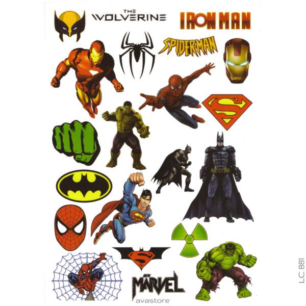 Tataouage temporaire Super Héros Marvel