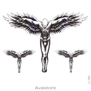 image tatouage ange crucifié
