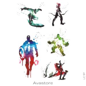 image tatouage avengers esquisse