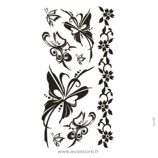 photo du tatouage papillon noir
