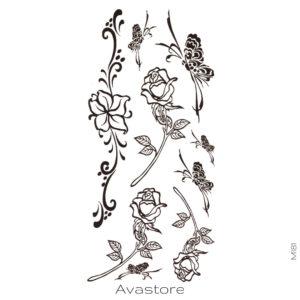 roses et papillons