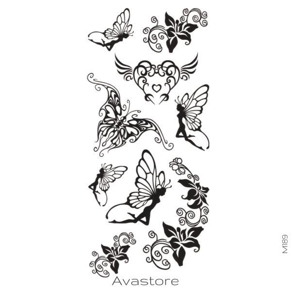 Tatouage temporaire fée papillon