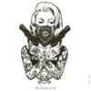 image tatouage femme gangster