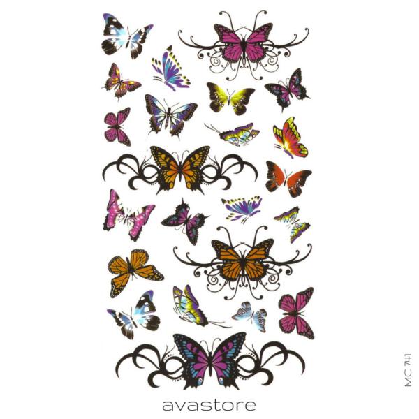 image tatouage papillons