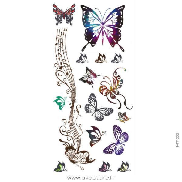 photo du tatouage bijoux papillons