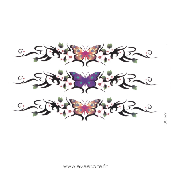 photo du tatouage bracelet papillon