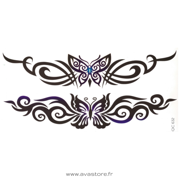 image tatouage papillon tribal