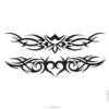image tatouage cœur tribal