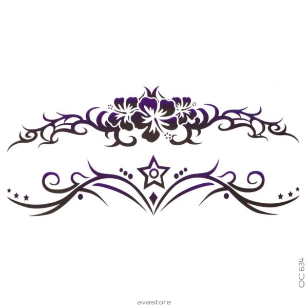 image tatouage fleur maori