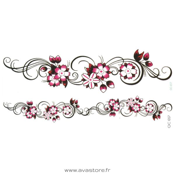 image tatouage fleur tribal