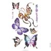 image tatouage papillons multicolores