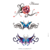 image tatouage papillon et rose