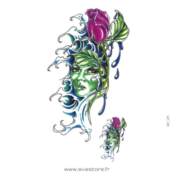 image tatouage femme fleur