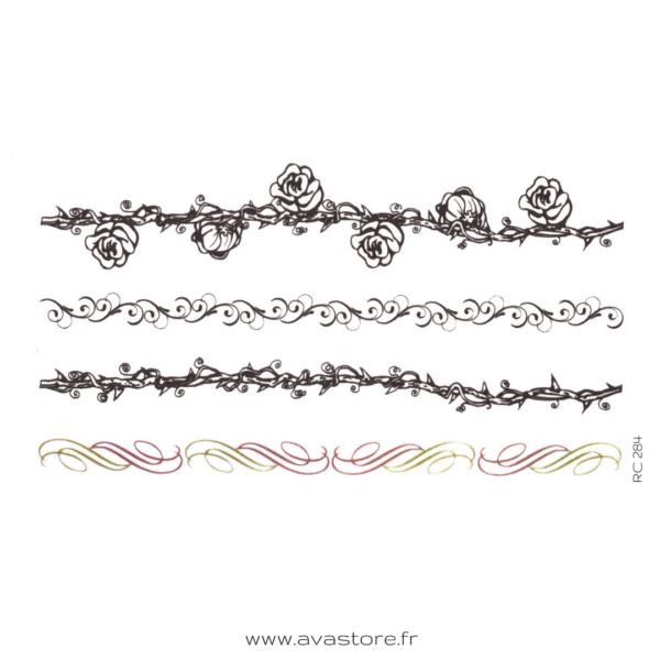 image tatouage bracelet de roses
