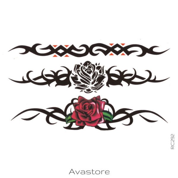 image tatouage rose tribal