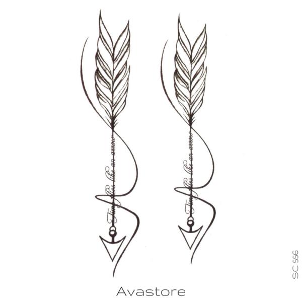 image tatouage flèches