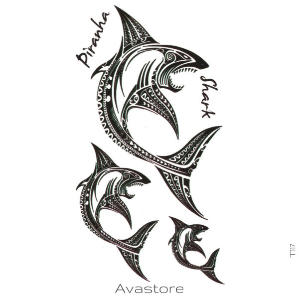 Tatouage temporaire requin polynésien
