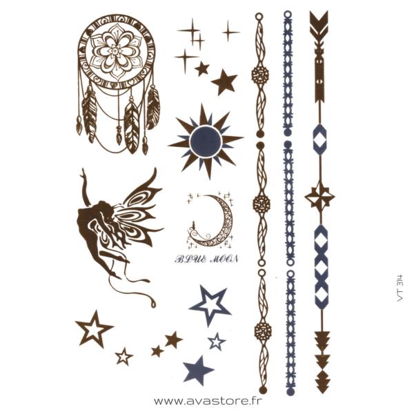 image tatouage bijoux attrape rêves