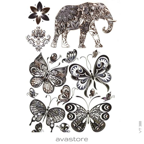 image tatouage éléphant