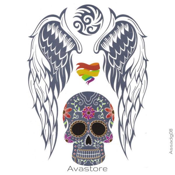 image tatouage crane mexicain