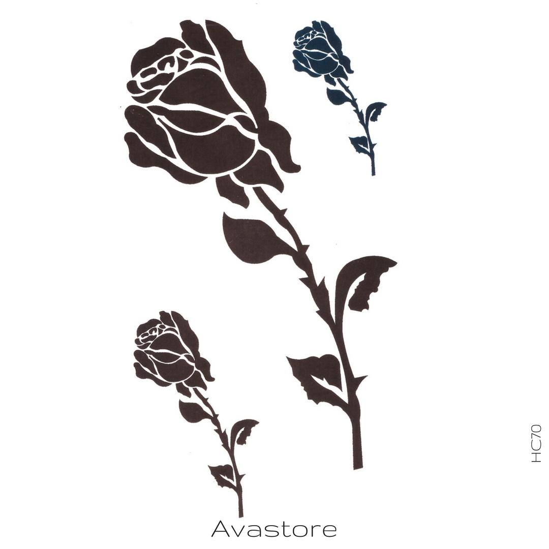 Tatouage Rose Noire Tatouage Temporaire