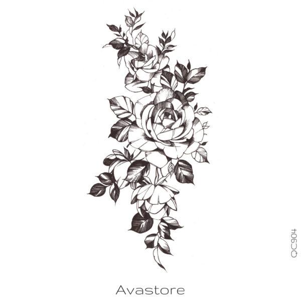 image tatouage boutons de roses