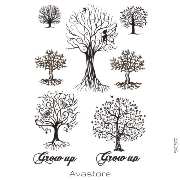 Tatouage temporaire arbres