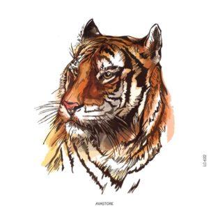 Tatouage temporaire Tigre