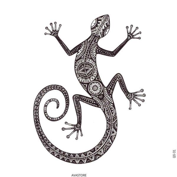 Tatouage temporaire Gecko