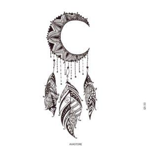 Tatouage temporaire Attrape Rêves Lune