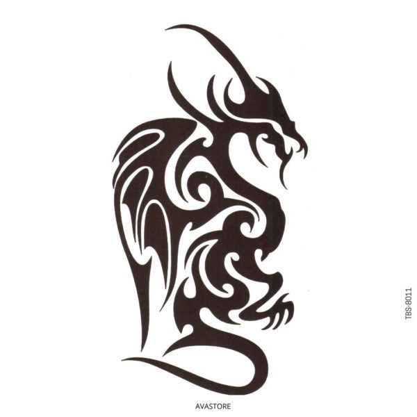 tatouage temporaire dragon tribal