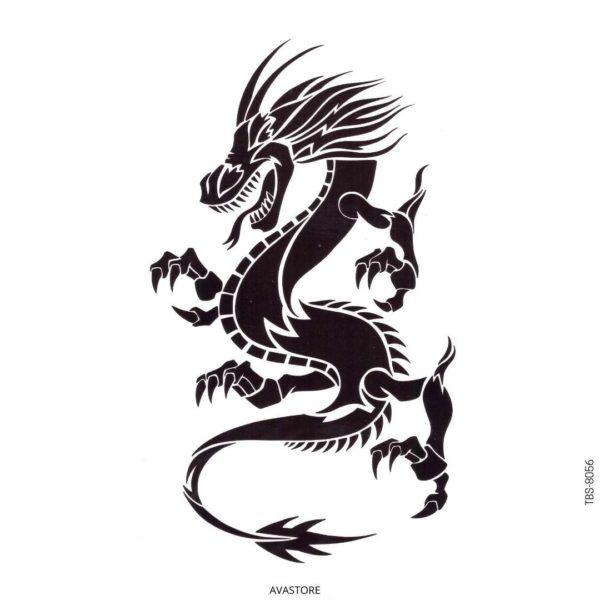 tatouage temporaire dragon maori
