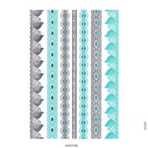 Tatouage temporaire Bijoux dentelle métallic