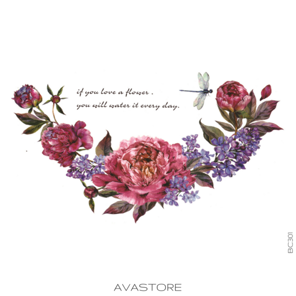 image tatouage fleurs