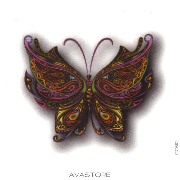 image tatouage papillon coloré