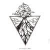 image tatouage volcan