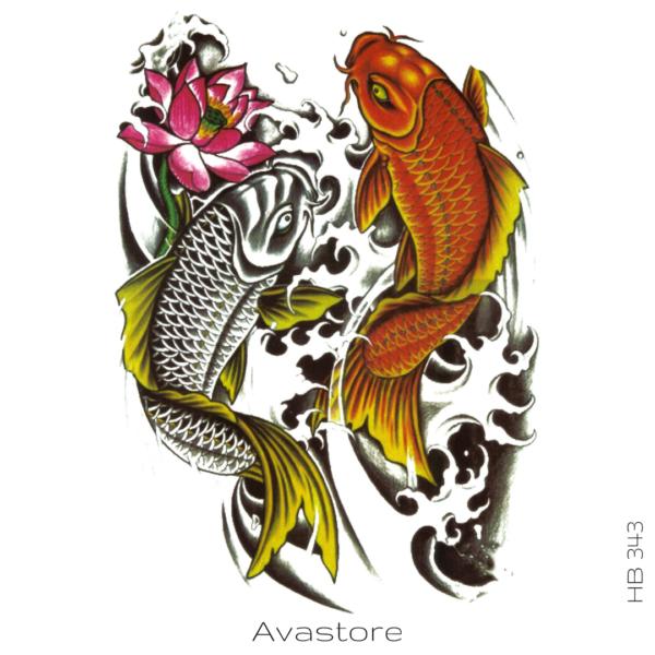 image Tatouage poisson japonais